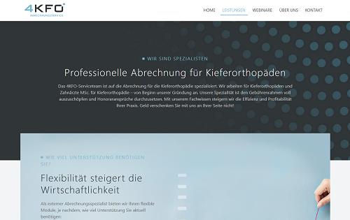 Webseitenkonzeption, Branding & Text für 4KFO in München