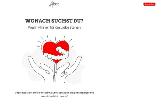 Webseitenkonzeption, Branding & Text für Aligner-München